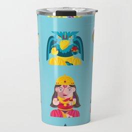 Indian Box Dolls Travel Mug