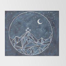 Night Court moon and stars Throw Blanket
