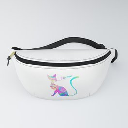 Abstract Watercolor Cat Fanny Pack