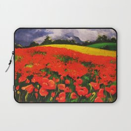Poppies before the Storm Laptop Sleeve