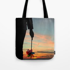 To see which way the wind blows Tote Bag