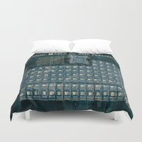 periodic table Duvet Covers featuring periodic table of elements by Bekim ART