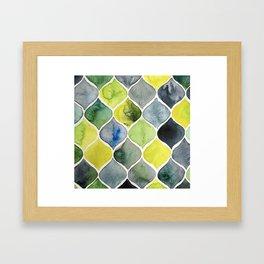 Scalloped Mosaic Framed Art Print