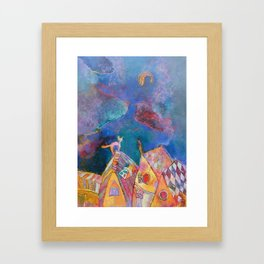 Dream of one cat Framed Art Print