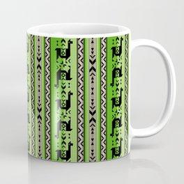 Llamas_Green and WarmGray Coffee Mug