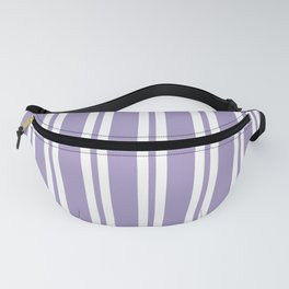 Lavender Wide Small Wide Stripes Fanny Pack