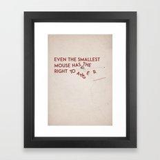 Smallest Mouse Framed Art Print
