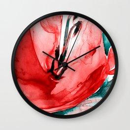 Soul Flower 2020-2c by Kathy Morton Stanion Wall Clock