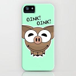 Pig Oink Piggy Pink animal framed poster art mug iPhone Case