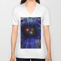 "stargate V-neck T-shirts featuring Stargate to ""Gliese 562"" ! by capricorn"