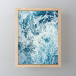 Rough Sea - Ocean Photography Framed Mini Art Print
