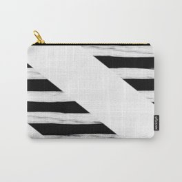 Cross Black and White Gross Stripes Carry-All Pouch