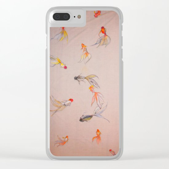 Goldfish Pond Clear iPhone Case
