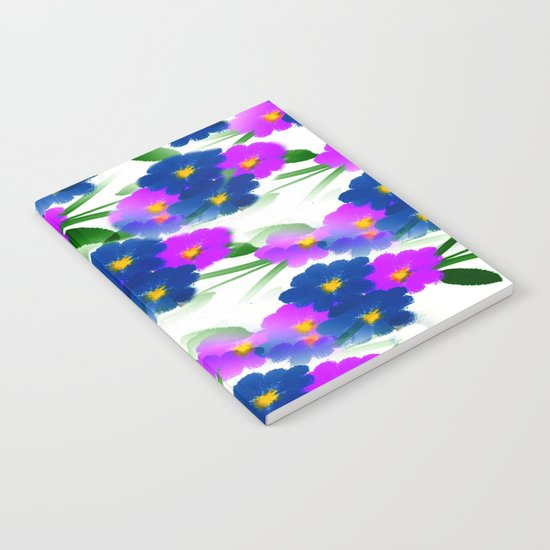 Abundance Of Painted Flowers Notebook