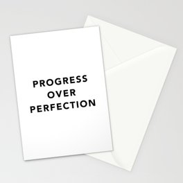 Progress over perfection Stationery Cards
