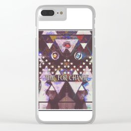 TIME FOR CHANGE HEWGE THIRD EYE BUNNY MAN Clear iPhone Case