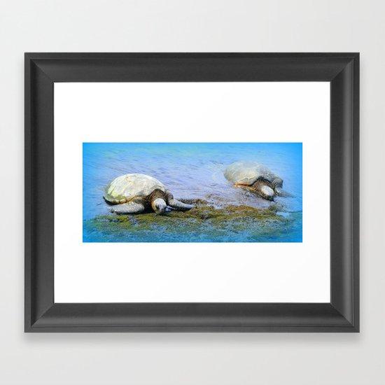 Giant Sea Turtle Framed Art Print