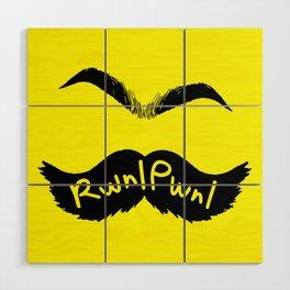 RwnlPwnl Mustache Wood Wall Art