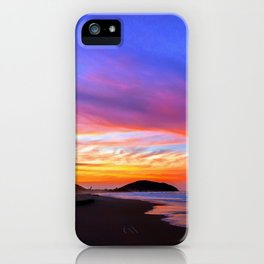Colorful Sunset Ocean Tropical Beach iPhone Case