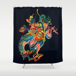 Mounted: Yabusame (Mounted archery) Shower Curtain