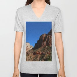 Colorful Moutains Of The Zion Park Unisex V-Neck