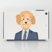 poodle iPad Cases featuring Posing Poodle by drawgood
