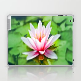 Pink Lotus Waterlily & Green Lily Pads Laptop & iPad Skin