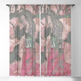 Raven Witch Sheer Curtain