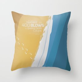 The 400 Blows, les Quatre cents coups, François Truffaut, minimalist movie poster, Jean-Pierre Léaud Throw Pillow