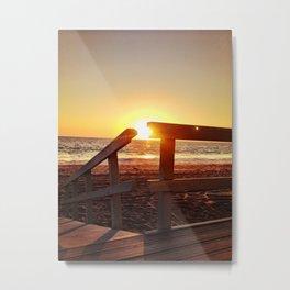 "Redondo Beach ""Life Guard Tower 1"" Metal Print"