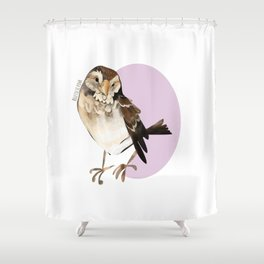 Female Sparrow in Pink (c) 2017 Shower Curtain