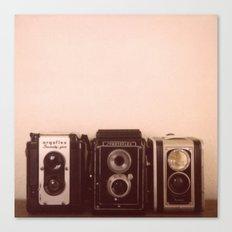 Three Cameras Canvas Print