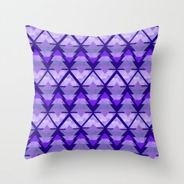 Geometric Forest on Purple Throw Pillow