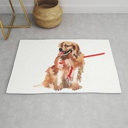 watercolor dog vol 17 golden retriever Rug