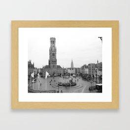 Brugge, Belgium City Center Framed Art Print