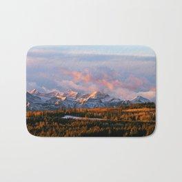 Sunrise in the Rockies Bath Mat