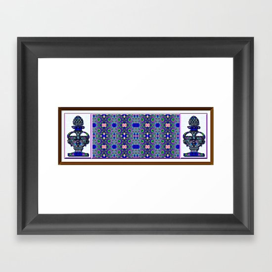 Grecian Garden Framed Art Print