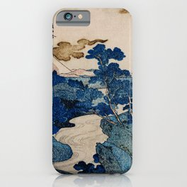 Cottages On Cliffs Traditional Japanese Landscape iPhone Case