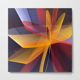 Transparent foldings, modern colourful abstract Metal Print