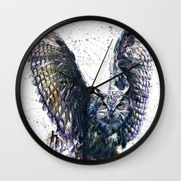 Owl 3 Wall Clock