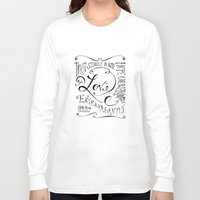 scripture Long Sleeve T-shirts featuring Love Extravagantly scripture print by Kristen Ramsey