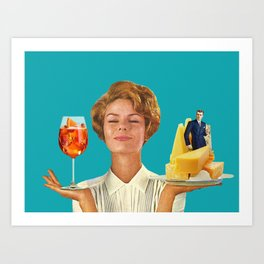 Weekend Plans (Cocktails & Cheese) Art Print