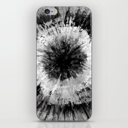 Black and White Tie Dye // Painted // Multi Media iPhone Skin