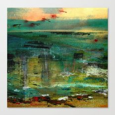 between sky and sea Canvas Print