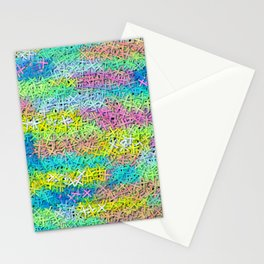 A pile of colorful joy Stationery Cards