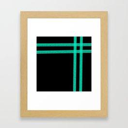 Mint Strip Framed Art Print