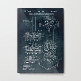 1978 - Joystick controller mechanism (Atari) Metal Print
