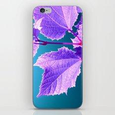 purple wine leaf iPhone & iPod Skin