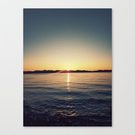 Sunset over island Canvas Print