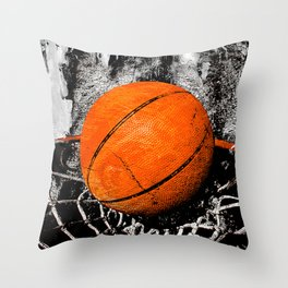 The basketball Throw Pillow